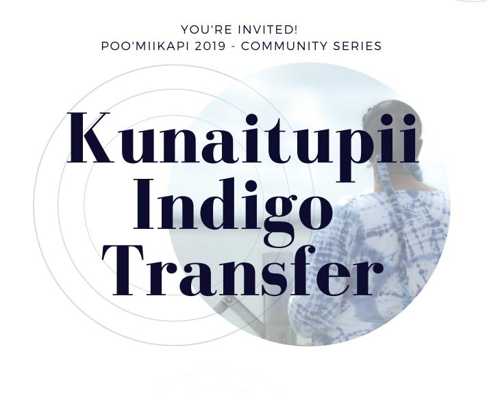 Kunaiptupii Indigo Transfer Logo