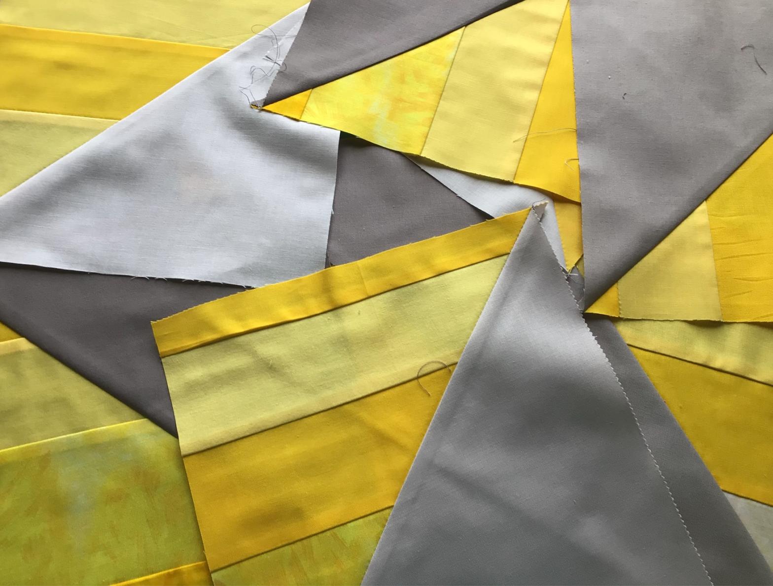 Yellow & Gray Quilt Blocks